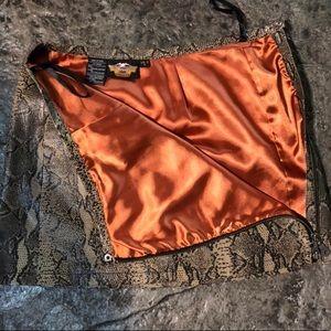 Harley-Davidson Snakeskin leather mini skirt